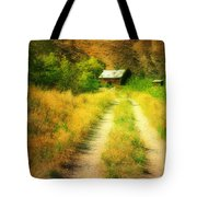 The Old Building Across The Creek Tote Bag