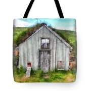 The Old Chicken Coop Iceland Turf Barn Tote Bag