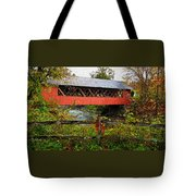 The Old Creamery Covered Bridge Tote Bag