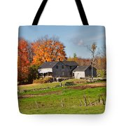 The Old Farm In Autumn Tote Bag