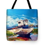 The Old Fishing Boat Tote Bag