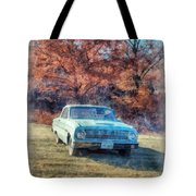 The Old Ford On The Side Of The Road Tote Bag