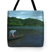 The Old Green Canoe Tote Bag