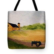 The Old Green Tractor Tote Bag