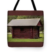 The Old Log Hut Tote Bag