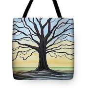 The Stained Old Oak Tree Tote Bag