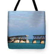 The Old Railroad To The Keys Tote Bag