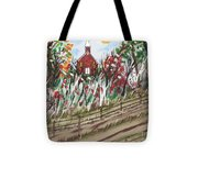 The Old Red Church Tote Bag