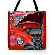 The Old Red Jalopy Tote Bag