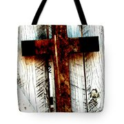 The Old Rusted Cross Tote Bag