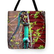 The Old Rusty Water Pump Tote Bag