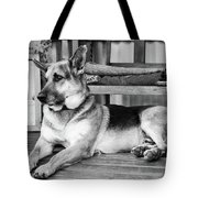 The Old Watch Dog Tote Bag