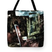 The Ghost Behind The Old Window Tote Bag