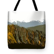 The Olympic Mountains Tote Bag