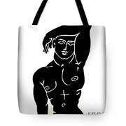 The Olympic Swimmer - Erod Art Tote Bag