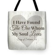 The One Whom My Sould Loves- Art By Linda Woods Tote Bag