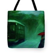 The Orange Umbrella 1888 Tote Bag