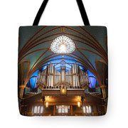 The Organ Inside The Notre Dame In Montreal Tote Bag