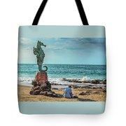 The Original Boy On The Seahorse Tote Bag