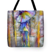 The Other Girl In The City Tote Bag by Debbie Lewis