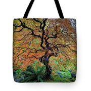 The Other Japanese Maple Tree In Autumn Tote Bag