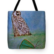 The Owl And The Butterfly Tote Bag