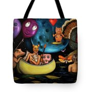 The Owl And The Pussycat In The Beginning Tote Bag by Leah Saulnier The Painting Maniac