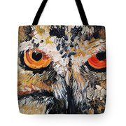 The Owl Of Lakshmi Textured Painting_0476 Tote Bag