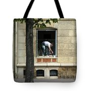 The Painter In The Window Tote Bag