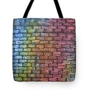 The Painted Brick Wall  Tote Bag