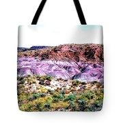 The Painted Desert  In Arizona Tote Bag