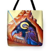 The Painting At Shepherds Field Tote Bag