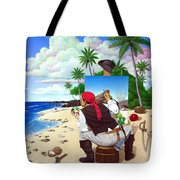 The Painting Pirate Tote Bag