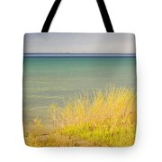 weather ,storm,weather ,clouds ,cloudy ,blue ,skies ,water, marine,beach, marine, cottage, Michigan, Tote Bag