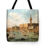 The Palace And The Molo From The Basin Of San Marco Tote Bag