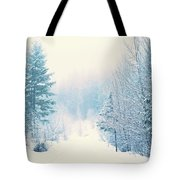 The Pale Kiss Of Winter Tote Bag