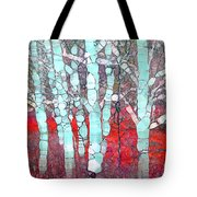 The Pale Trees Of Winter Tote Bag