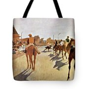 The Parade, Digitally Enhanced Highest Resolution,race Horses In Front Of The Tribune, Edgar Degas Tote Bag