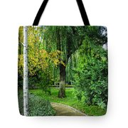 The Park Federico Garcia Lorca Is Situated In The City Of Granada, In Spain. Tote Bag