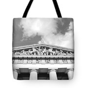 The Parthenon In Nashville Tennessee Black And White 2 Tote Bag