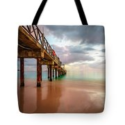 The Pastel Sky And The Jetty Tote Bag