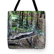 The Path By The Log Tote Bag