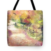 The Path In Autumn Tote Bag