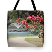 The Path To The Fountain Tote Bag