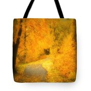 The Pathway Of Fallen Leaves Tote Bag