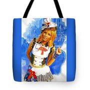 The Patriotic Fashion Girl Tote Bag