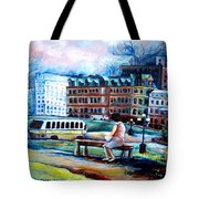 The Peace Tower In Ottawa Tote Bag