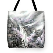 The Peach Blossoms In The Mountains Tote Bag