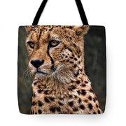 The Pensive Cheetah Tote Bag