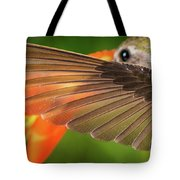 The Perfect Left Wing Of A Hummingbird Tote Bag